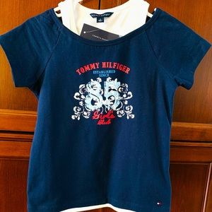 Tommy Hilfiger cotton t-shirt with logo Girls M